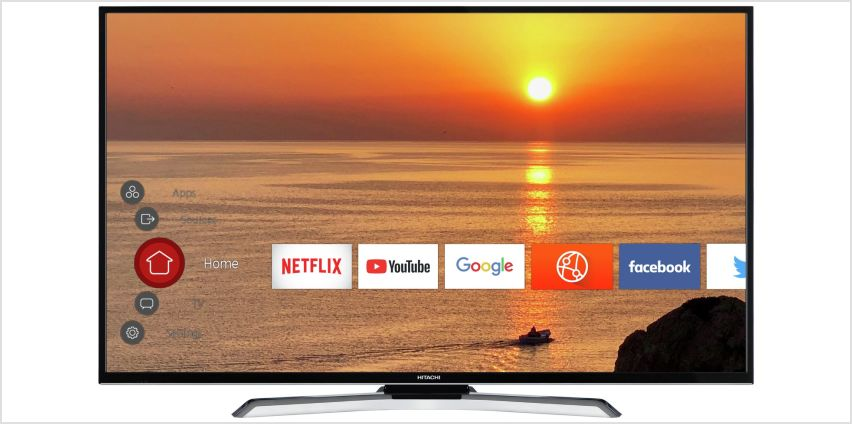 Hitachi 55 Inch 55HK25T74U Smart 4K  LED TV from Argos