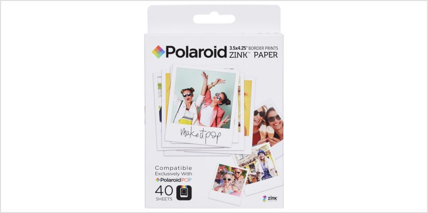 Polaroid Zinc Refill Paper- 40 Pack from Argos