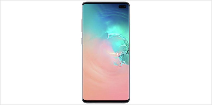 SIM Free Samsung Galaxy S10+ 128GB - Prism White from Argos