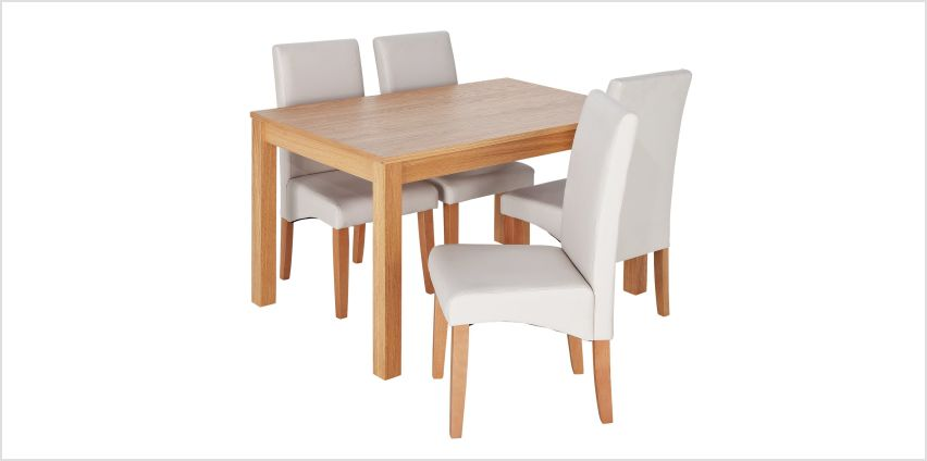 Argos Home Clifton Oak Dining Table & 4 Chairs from Argos