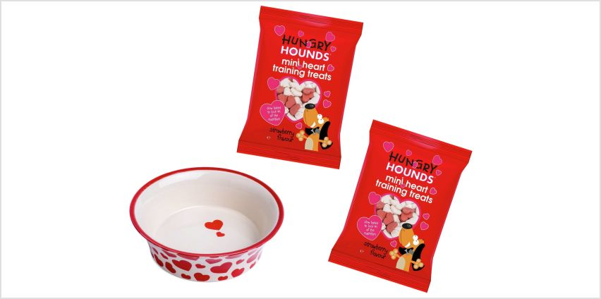 Petface Pets Heart Bowl and Treats from Argos