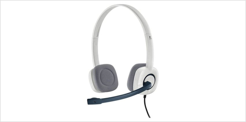 Logitech H150 Stereo PC Headset - White from Argos