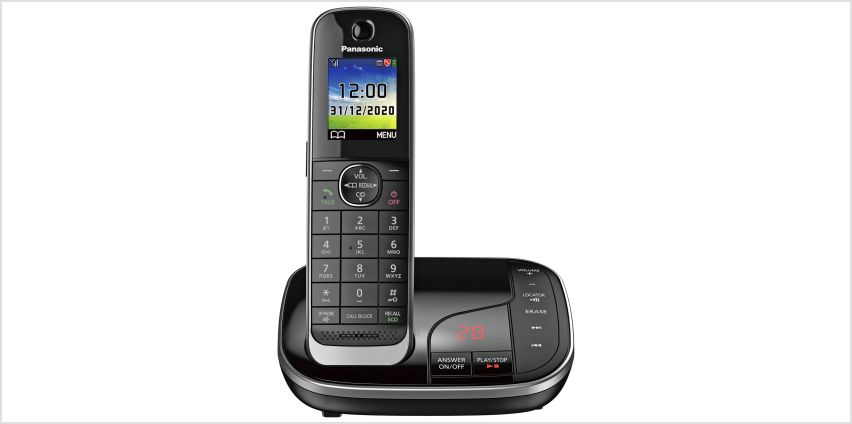 Panasonic Cordless Telephone with Answer Machine - Single from Argos