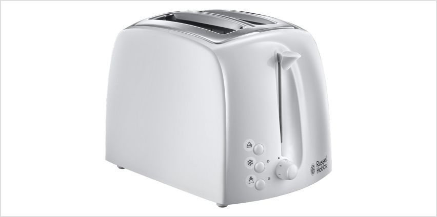 Russell Hobbs 21640 Textures 2 Slice Toaster - White from Argos