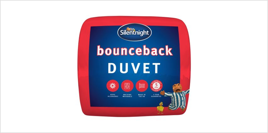 Silentnight Bounceback 13.5 Tog Duvet from Argos