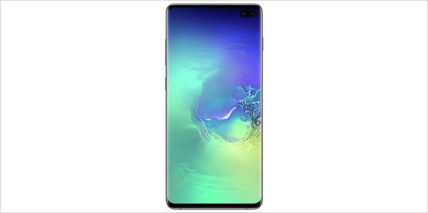 SIM Free Samsung Galaxy S10+ 128GB - Prism Green from Argos