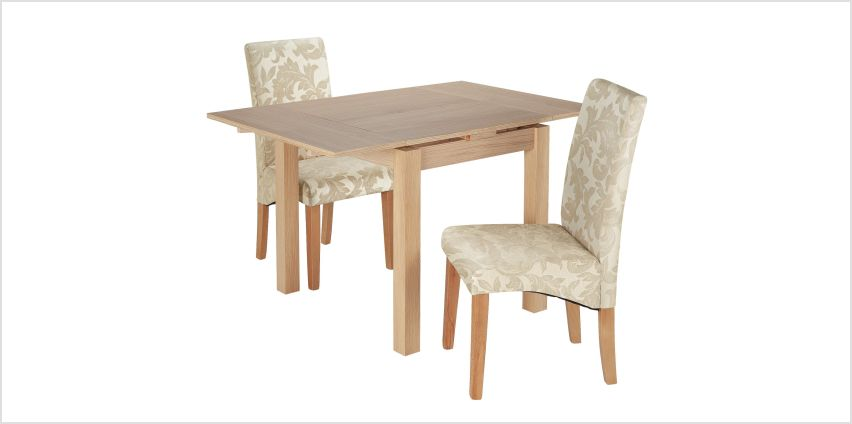 Argos Home Clifton Oak Extending Dining Table & 2 Chairs from Argos