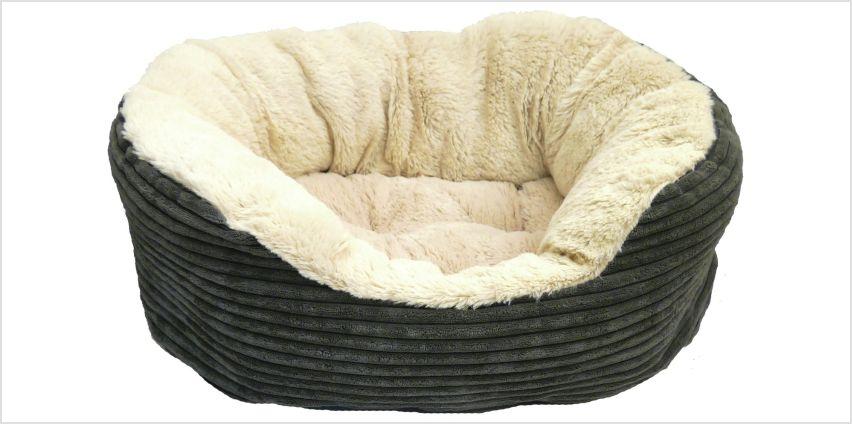 Rosewood Grey Jumbo Cord Plush Bed - Medium from Argos