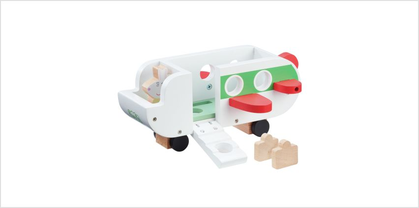 Peppa Pig Peppa's Wood Play Aeroplane and Figure Playset from Argos
