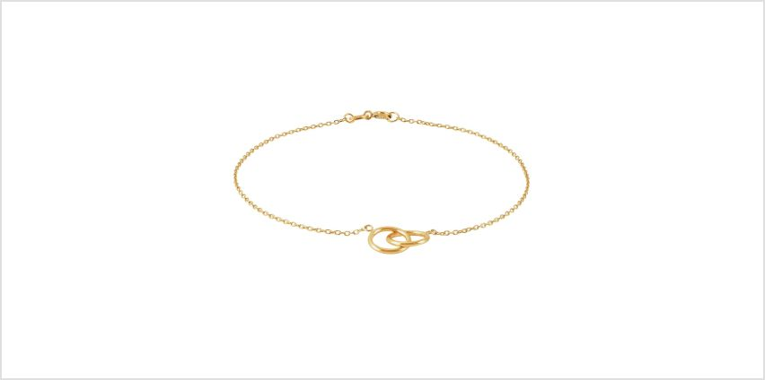 Revere 9ct Yellow Gold Double Circle Bracelet from Argos