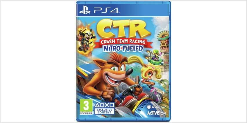 Crash Team Racing Nitro-Fueled PS4 Game from Argos