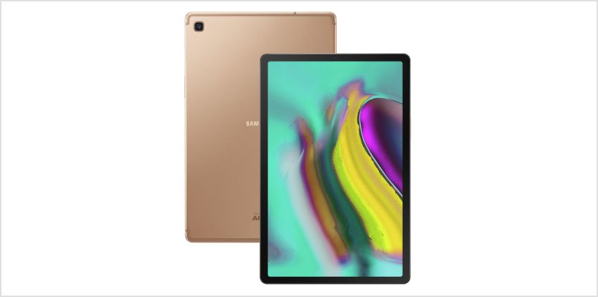 Samsung Tab S5e 10.5 Inch 64GB Wi-Fi Tablet - Gold from Argos