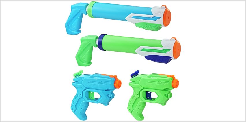 Nerf Super Soaker Floodtastic 4 Pack from Argos