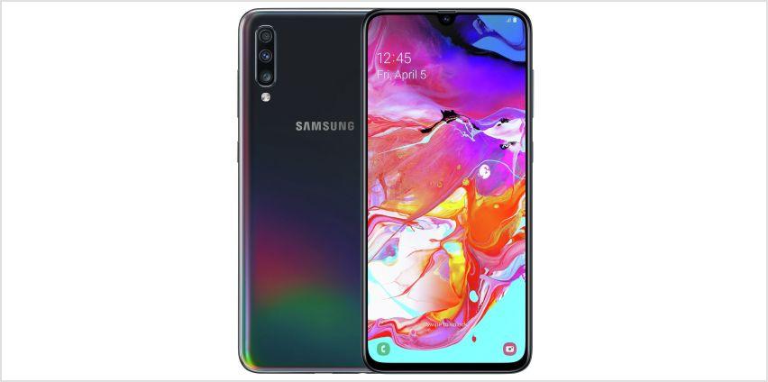 SIM Free Samsung A70 128GB Mobile Phone – Black from Argos