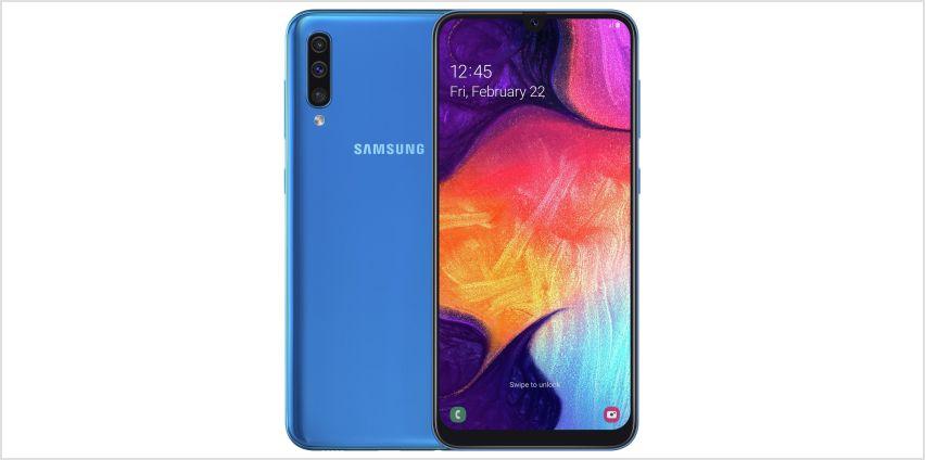 SIM Free Samsung Galaxy A50 128GB Mobile Phone  - Blue from Argos