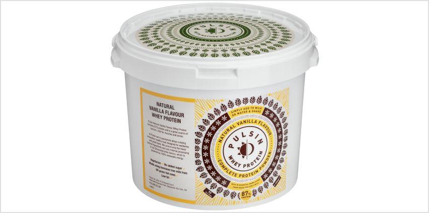 Pulsin Vegetarian Whey Protein Powder Vanilla 2.25kg from Argos