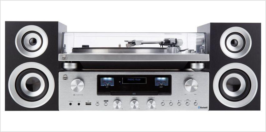GPO Premium Series PR 100 Record Player with PR200 CD/Amp from Argos