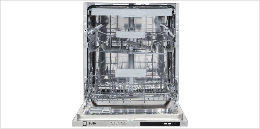 Bush DWINT15LC Full Size Full Integrated Dishwasher - Silver from Argos