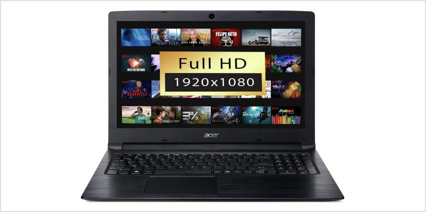 Acer Aspire 3 15.6 Inch AMD A9 4GB 1TB FHD Laptop - Black from Argos