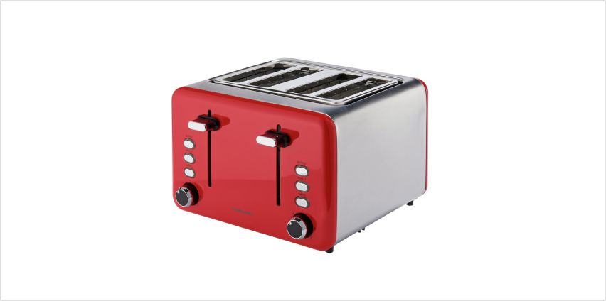 Cookworks 4 Slice Toaster - Red from Argos
