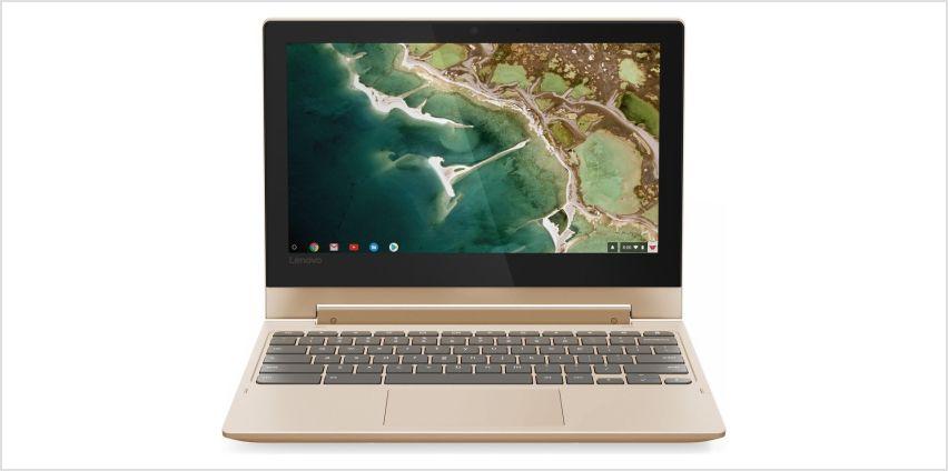 Lenovo C330 11.6 Inch 4GB 32GB 2-in-1 Chromebook - Gold from Argos