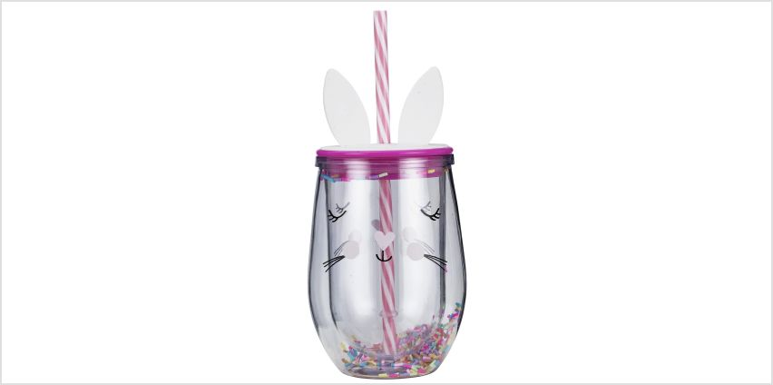 Argos Home Bunny Drinks Cup with Straw from Argos