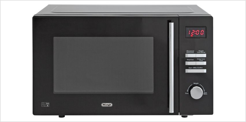 De'Longhi 900W Microwave with Grill AM820C - Black from Argos