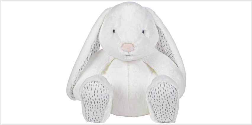Argos Home Large Super-Soft White Bunny from Argos