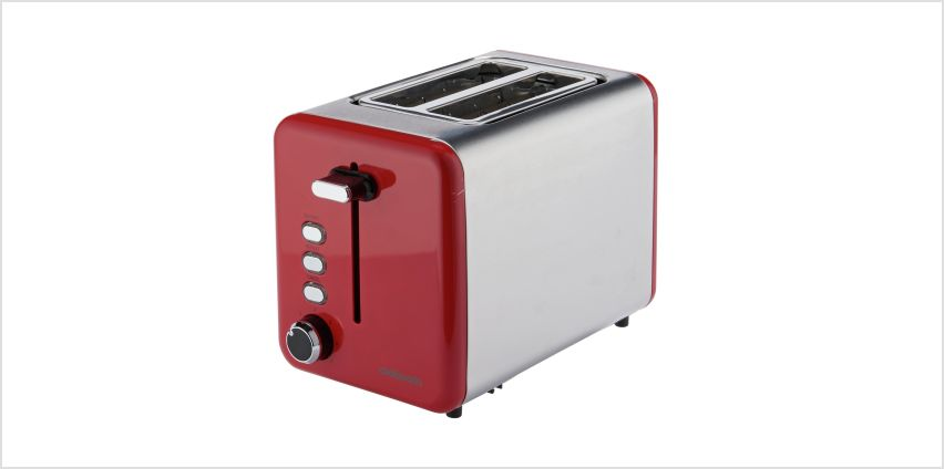 Cookworks 2 Slice Toaster - Red from Argos