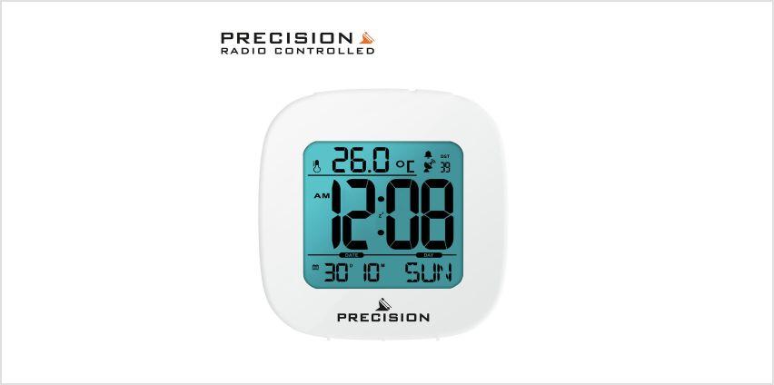 Precision Radio Controlled Digital Alarm Clock - White from Argos