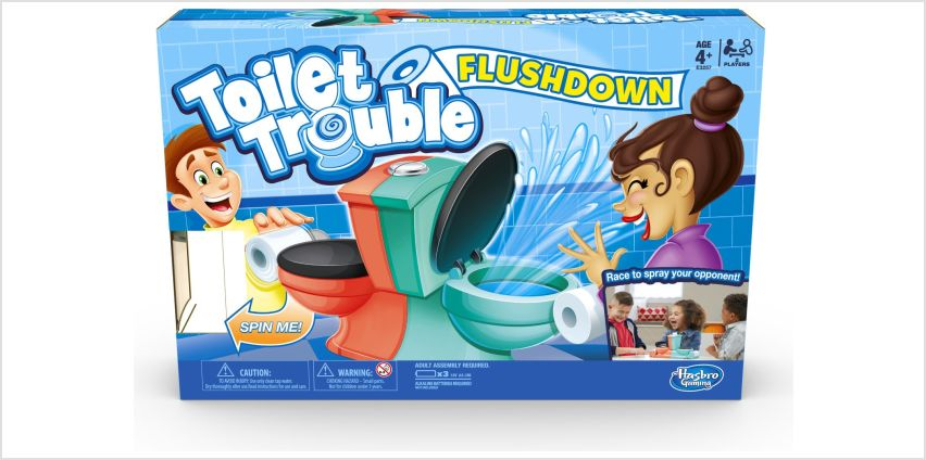 Toilet Trouble Flushdown Kids Game from Hasbro Gaming from Argos