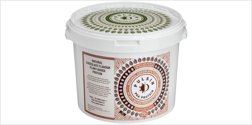 Pulsin Vegan Pea Protein Powder Chocolate 2.25kg from Argos