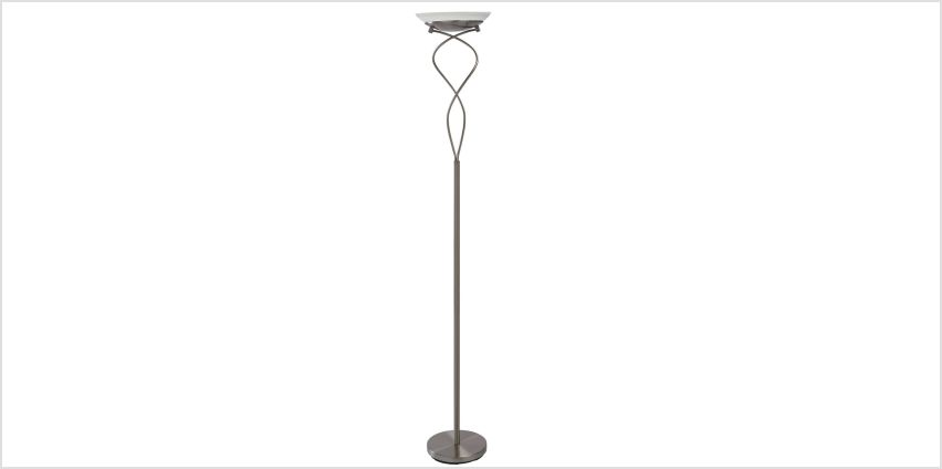 Argos Home Curico Uplighter Floor Lamp - Brushed Chrome from Argos