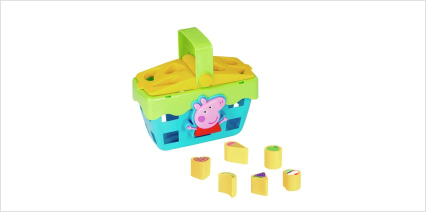 Peppa Pig Shape Sorting Picnic Set from Argos
