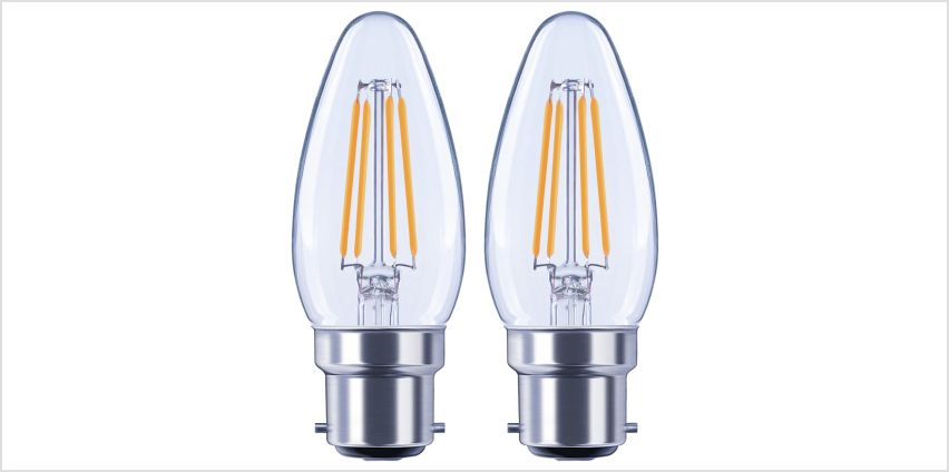 Argos Home 4W LED BC Candle Light Bulb - 2 Pack from Argos