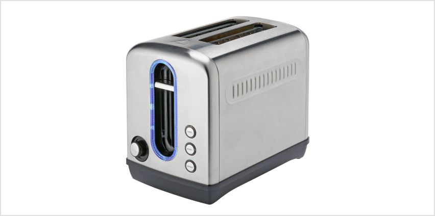 Cookworks Illuminated 2 Slice Toaster - Brushed S/Steel from Argos