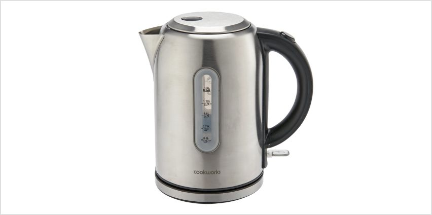 Cookworks Illuminated Kettle - Brushed Stainless Steel from Argos