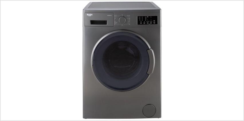 Bush WMNB812IX 8KG 1200 Spin Washing Machine - Inox from Argos