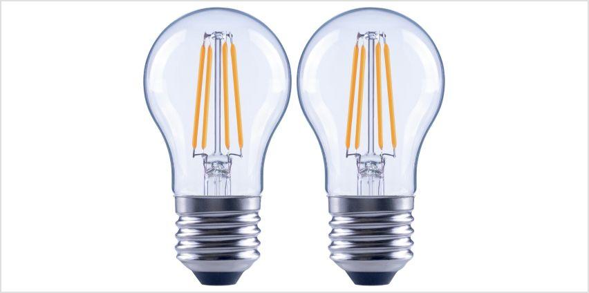Argos Home 4W LED ES Globe Light Bulb - 2 Pack from Argos
