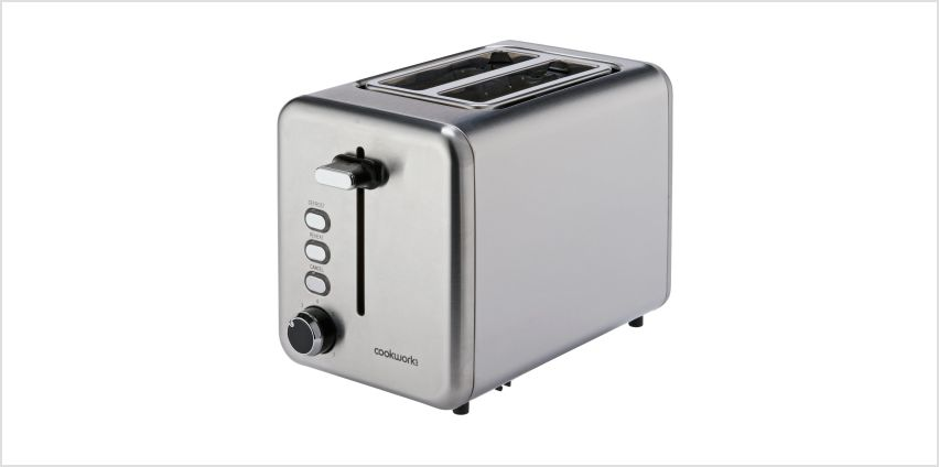 Cookworks 2 Slice Toaster - Brushed Stainless Steel from Argos