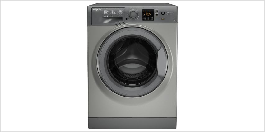 Hotpoint NSWM743UGG 7KG 1400 Spin Washing Machine - Graphite from Argos