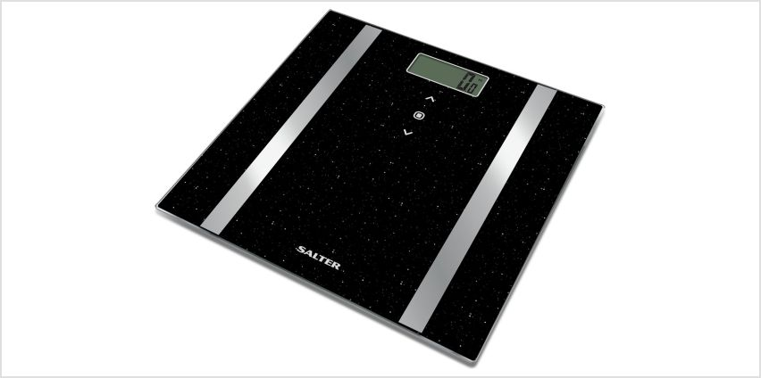 Salter Glitter Body Analyser Scale - Black from Argos