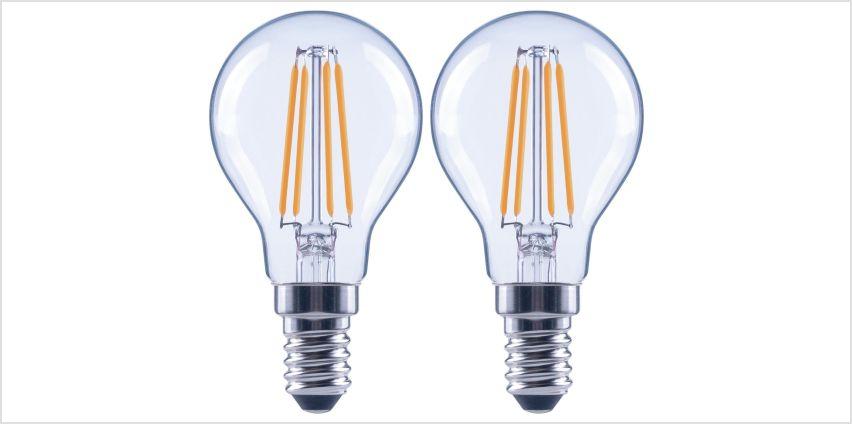 Argos Home 4W LED SES Globe Light Bulb - 2 Pack from Argos