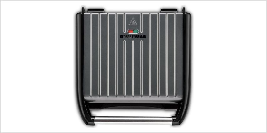 George Foreman Large Grey Steel Grill 25051 from Argos