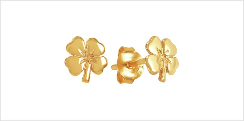 Revere 9ct Gold Plated Four Leaf Clover Stud Earrings from Argos