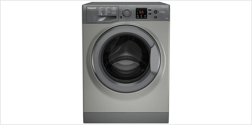 Hotpoint NSWM943CGG 9KG 1400 Spin Washing Machine - Graphite from Argos
