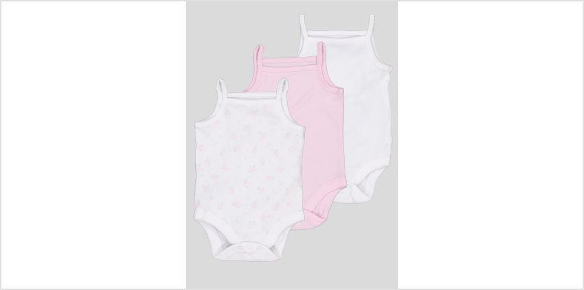 Multicoloured Strappy Bodysuits 3 Pack from Argos