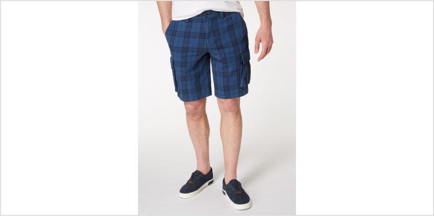 Check Twill Cargo Shorts from Argos