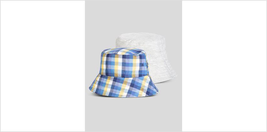 Multicoloured Check Bucket Hats 2 Pack from Argos