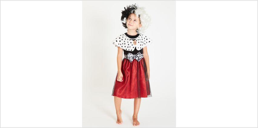 Online Exclusive Disney Cruella Red Dress & Wig from Argos